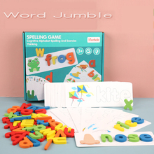 Abc Puzzle Spelling Word Game Wooden Toy Early Education Jigsaw Puzzle Alphabet
