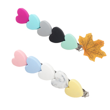Pacifier Clip Necklace Dummy Heart-Shaped Bpa-Free Silicone 50PCS Chenkai for DIY Infant