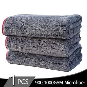 Image 1 - Полотенце из микрофибры 900gsm 90х60 см, тряпочка для автомойки, детализация инструмента для очистки автомобиля, сушильное полотенце, толстое полированное полотенце, супер впитывающее полотенце