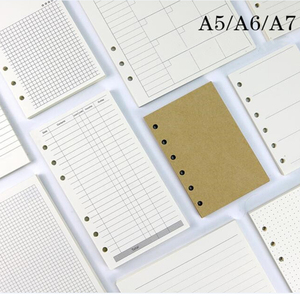 45 Sheets Business A5 A6 Loose Leaf Notebook Refill Spiral Binder Index Inside Page Monthly Weekly To Do List Paper Stationery