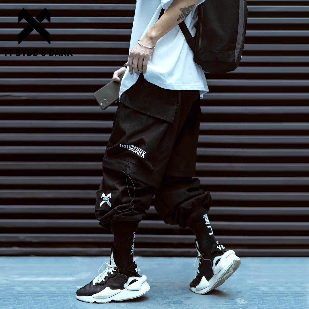 11 BYBB'S DARK Tatical Casual Pants 2020 Removable Streetwear Joggers Men Trousers Hip Hop Harajuku Cargo Shorts Pants Techwear