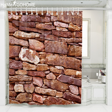 Stone Wall Art Waterproof Fabric Polyester Shower Curtains Bathroom Curtain 3d Childrens Boho Bath Plus