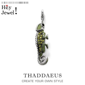 Pirate Green Lizard Chameleon,2019 Brand Fashion Jewelry Europe Bijoux 925 Sterling Silver Accessories Gift For Woman & Men
