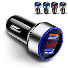 4.8A 5V Car Chargers 2 Ports Fast Charging For Samsung S21 A51 iphone 4 4S 11 7 Xiaomi 11 Universal Dual USB Car-charger Adapter