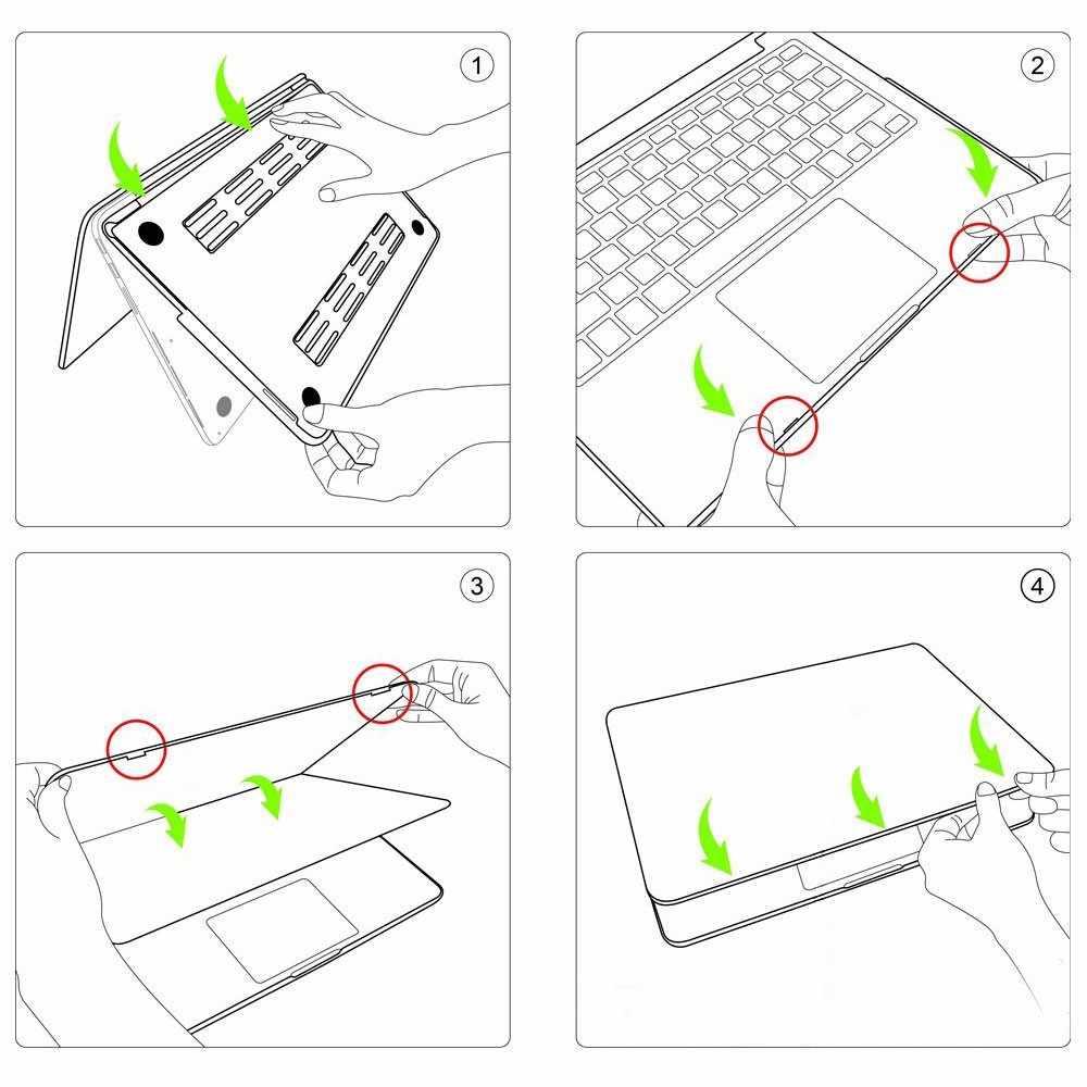 """Coque peinte étui pour macbook Air Pro Retina 11 12 13 15 pouces avec pochette d'ordinateur tactile pour macbook 2019 nouveau Pro 13 """"A2159 couverture"""