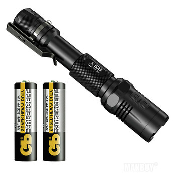 Free Shipping NITECORE EA21 R5 2x LEDs Flashlight 167 Meters Distance Waterproof Aluminum 2AA Portable Torch Travelling Gear EDC