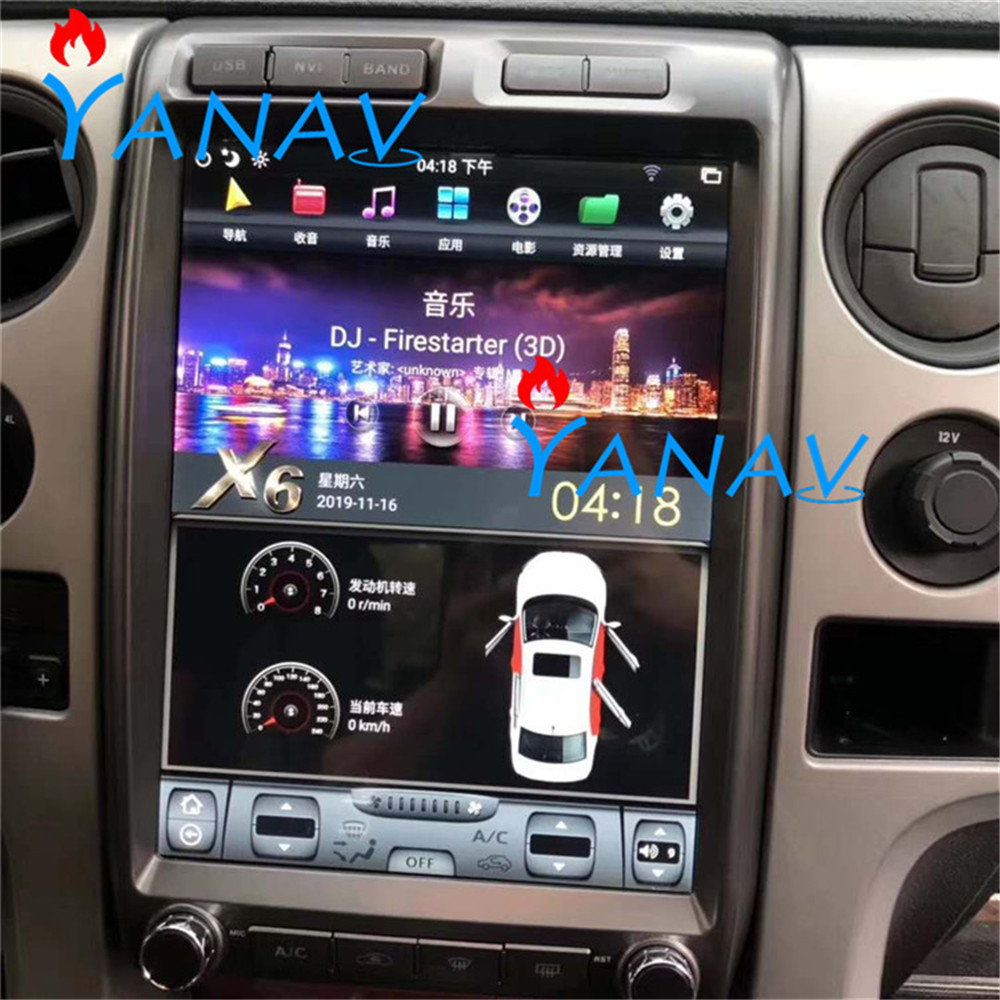 13 inch PX6 <font><b>Android</b></font> Vertical <font><b>Car</b></font> Radio For-FORD F150 2009-2012 GPS Navigation <font><b>CAR</b></font> <font><b>audio</b></font> Multimedia Player for-FORD Raptor 2009+ image