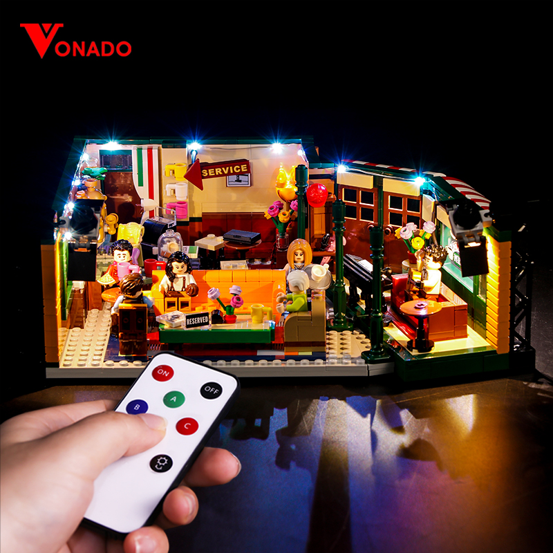 Vonado Compatible For <font><b>LEGO</b></font> <font><b>21319</b></font> Classic American Drama Friends Big Bang Theory Cafe LED Lighting Group Bricks Toys Gifts image