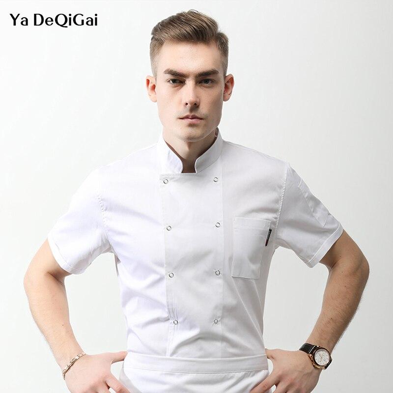 Casual Shirt Sushi Place Hotel Wholesale Chef Jackets Chef Uniform Western Restaurant Cake Master Work Clothes Hot Pot Shop