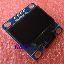 "5PCS White 3-5V 0.96"" I2C Serial 128X64 OLED LCD LED Display Module diy electronics"