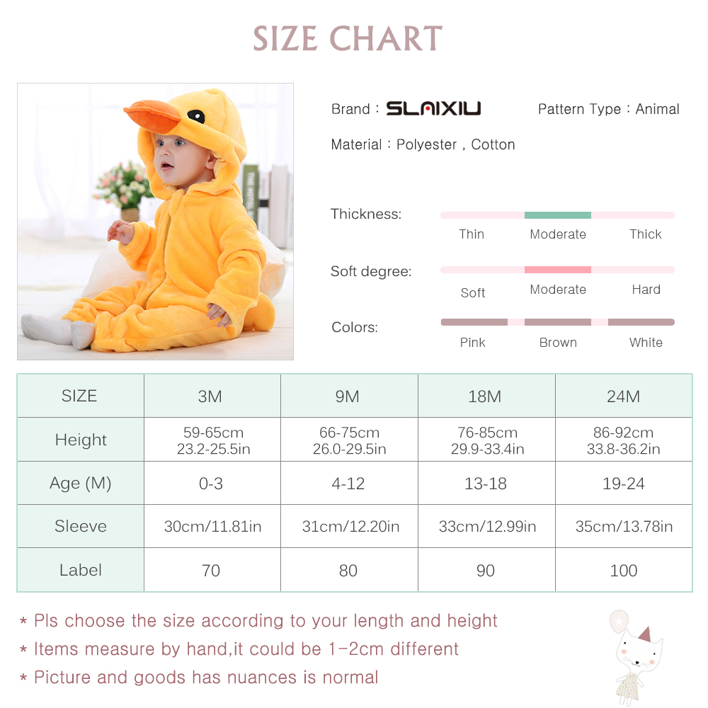 Image 5 - SLAIXIU Baby Sleeper Cotton Pajamas For Children Girls Cartoon Anime Panda Kids Costume Boy Sleepwear Newborn Blanket Jumpsuit-in Blanket Sleepers from Mother & Kids