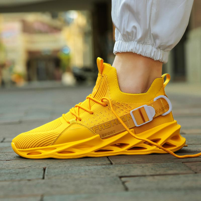 Plus Size Height-high Summer Mens Shoes Sports Shoes Running Men Sneakers Men's Sport Shoes Tennis Man Trainers Yellow Gym D-422