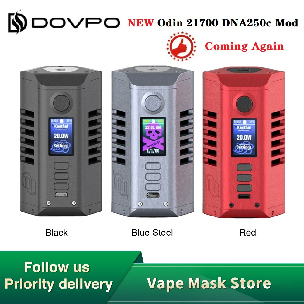 New Original Dovpo Odin DNA250C Box Mod Power By Dual 21700 Battery Fit Atomizer 510 Thread Vape Tank E Cig DNA Mod VS Swag 2