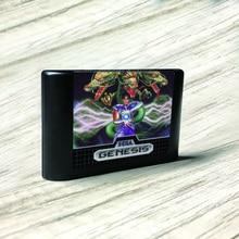 신비한 Defender 미국 라벨 Flashkit MD 무전 해 골드 PCB 카드 Megadrive 비디오 게임 콘솔