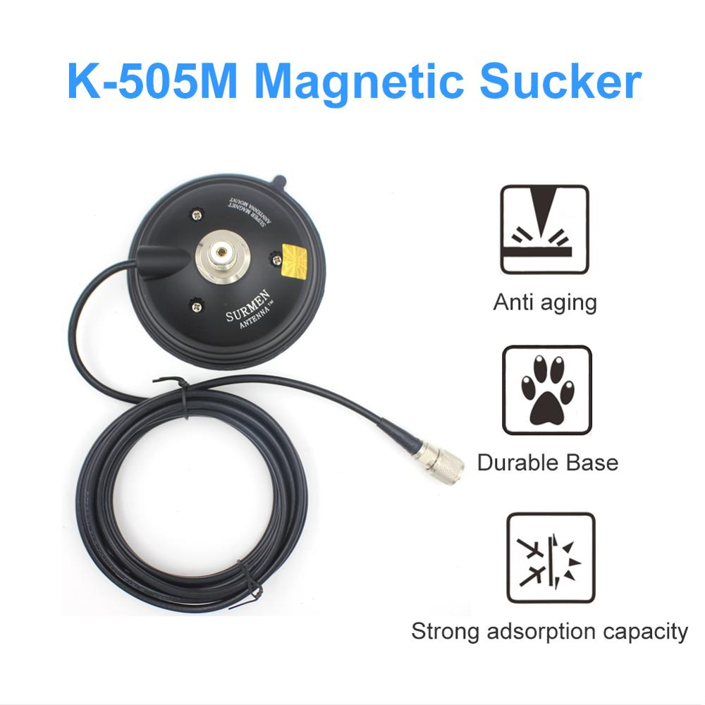 SURMEN K-505M-3D Vacuum Magnet 12CM Base + 4M Teflon Line Vacuum Suction Cups For Car Vehilce Radio