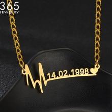 2021 três tipos chians collier nomes personalizados colar de data de nascimento pingentes personalizado namplate colares personalizados jewelrys