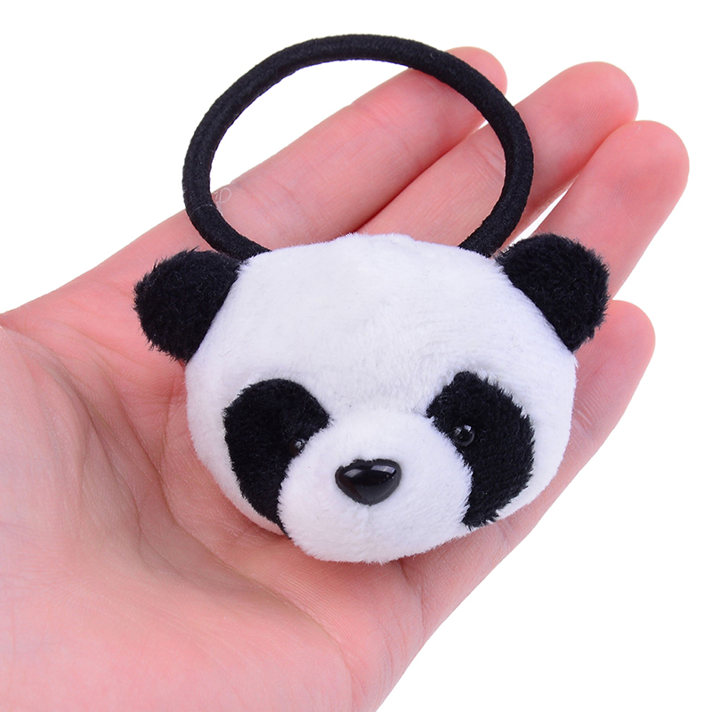 1 Pcs Hair Hoop Or 2pcs Hair Band Little Plush Toys For Hair Band Kid's Party Gift Panda Plush Stuffed Toys
