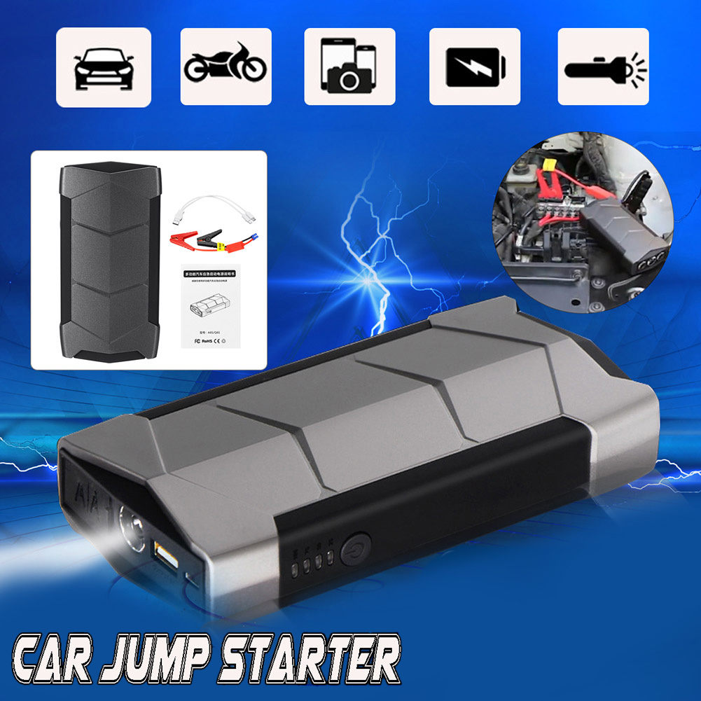 12V 99900mAh Mini Portable <font><b>Car</b></font> Jump Starter <font><b>Battery</b></font> USB <font><b>Charger</b></font> Emergency Power Bank SOS LED Torch <font><b>Light</b></font> For Starting Device image