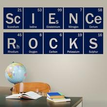 Kids Study Room Decoration Wall Sticker Science Rocks Periodic Classroom School Chemistry Dorm Home Decor LY1831