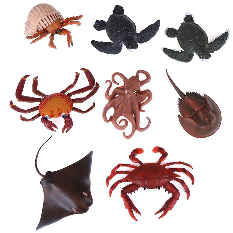 Realistic Horseshoe Crab Animal Model Figure Figurine Kid Toy Collectibles