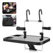 Car computer rack foldable car seat back tray beverage dining table computer desk portable suspension car steering wheel table