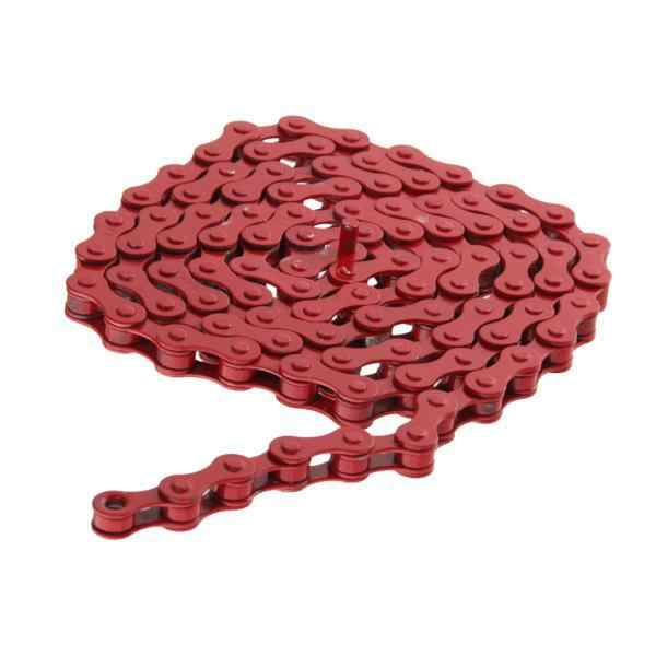 Gaosu 96 Links 1//2 x 1//8 Bike Chain Fixed Gear Track BMX Single Speed Bicycle Chains Cycling Accessories Multicolour