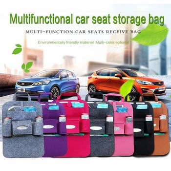New Arrival Convenient Car Seat Back Organizer Multi-Pocket Storage Bag Box Case Organizer Storage Bag Assorted Bag Pocket image