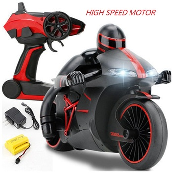 2,4G Mini Moto RC motocicleta Cool Light alta velocidad niño bicicleta eléctrica modelo de juguete de Control remoto Drift Motor regalo de los niños