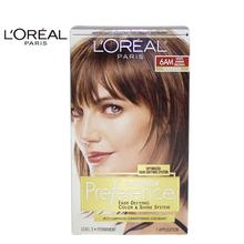 LOreal Paris Superior Preference Fade-Defying Color # 6AM Light Amber Brown - Warmer by for Unisex - 1 Application Hair Color