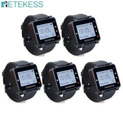 5 pçs retekess t128 relógio receptor 433.92 mhz para sistema de chamada sem fio garçom chamada pager restaurante equipamentos serviço ao cliente