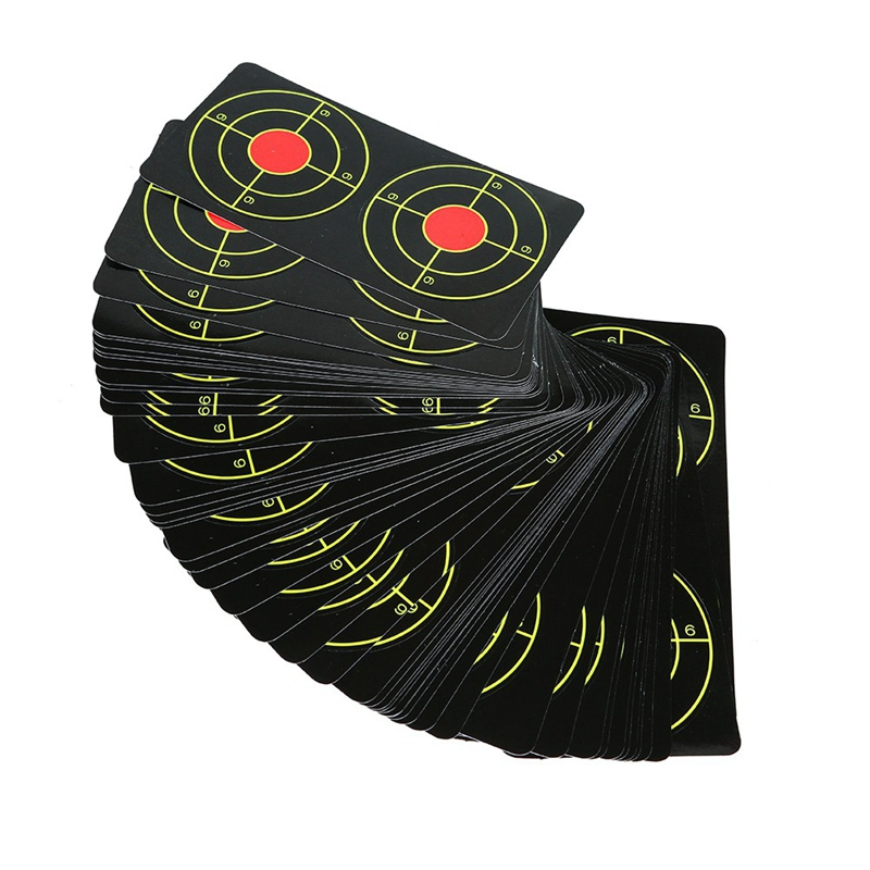 Shoot Target Shooting Fluorescent Target Sticker Paper Self Adhesive Targets Slingshot Shooting Training Accessories