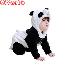Baby Girl Romper 2020 New Baby Boys Girls Jumpsuit New Born Clothing Hooded Toddler Baby Clothes Cute Panda Romper Baby Costumes