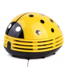 Table Dust Vaccum Cleaner Ladybug Shaped Portable Corner Desk Vaccum Cleaner Mini Cute Vacuum Cleaner Dust Sweeper