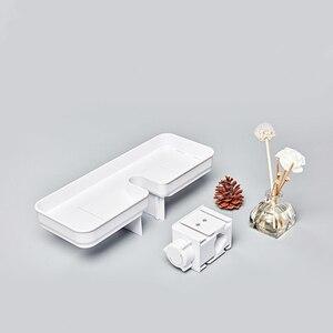 Image 4 - Dabai נייד אמבטיה מקלחות אחסון מדף תליית מגבת מדף תליית מדף אחסון DIY ארגון עם וו