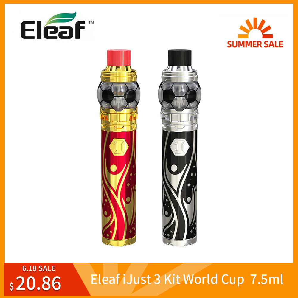 Big Sale Original <font><b>Eleaf</b></font> <font><b>iJust</b></font> 3 Kit With ELLO Duro 7.5ml World Cup Built <font><b>3000mAh</b></font> HW-M Coil Vape vs <font><b>Eleaf</b></font> <font><b>iJust</b></font> <font><b>S</b></font> Kit E-Cig image