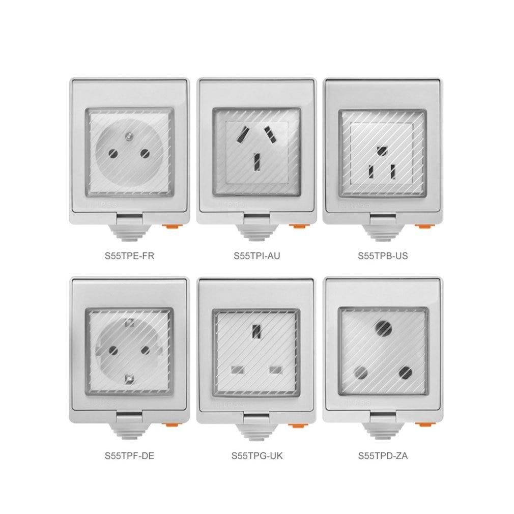 Sonoff S55 Wi-Fi Smart Waterproof Socket Home Smart Phone Remote Control Socket Waterproof Smart Socket