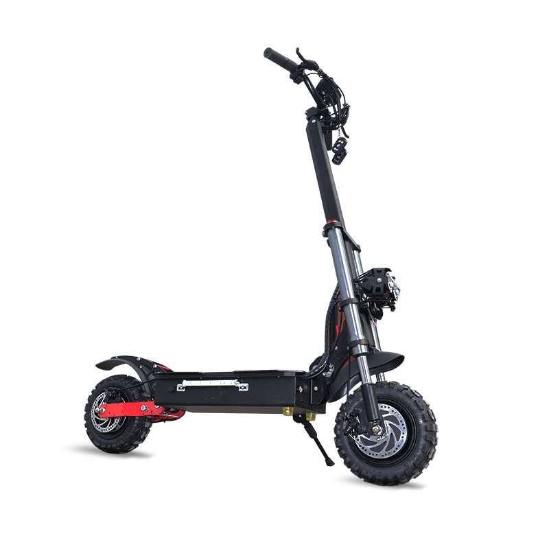 Aucune taxe 52V 2600W 11 pouces hors route Scooter électrique 70-80 km/h adulte pliable hoverboard électrique coup de pied scooter 75-85km distance