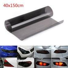 1pc Gloss Light Black Smoke PVC Cover Film Tint 40*150cm Headlight Taillight Wrap Cover waterproof sunproof new стоимость