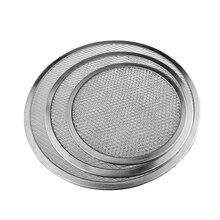 Pizza Tray Mesh Aluminum Pancake Screen Baking Net Bakeware Seamless Kitchen Tools 6/9/11/12/16 inch