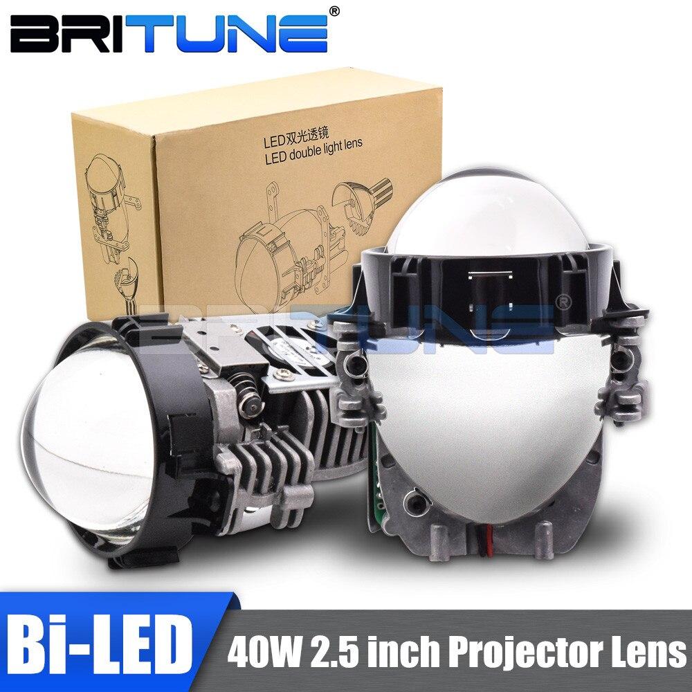40W 2,5 pulgadas Bi lentes de proyector LED de la linterna del coche de adaptación Universal LED faro alta baja y haz de la lente del coche accesorios