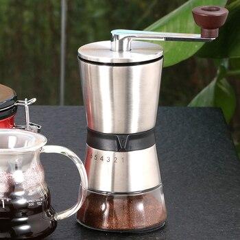 Nuevo molinillo de café de 75g Manual molinillo de café de acero inoxidable mecanismo de molienda de cerámica gruesa molino de café herramientas Molinillos de café manuales     -
