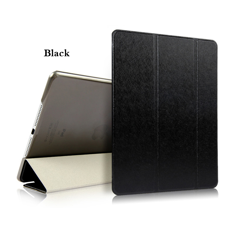 Black Black Tablet Case For iPad Air 4 10 9 2020 PU Leather Tri fold Cover For iPad