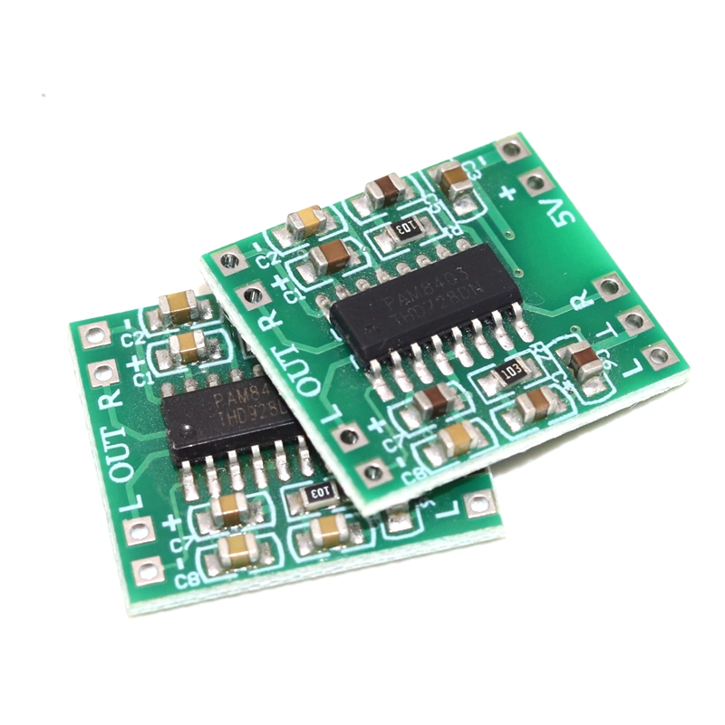 Купить модуль усилителя мощности pam8403 мини плата цифрового 2*3 вт