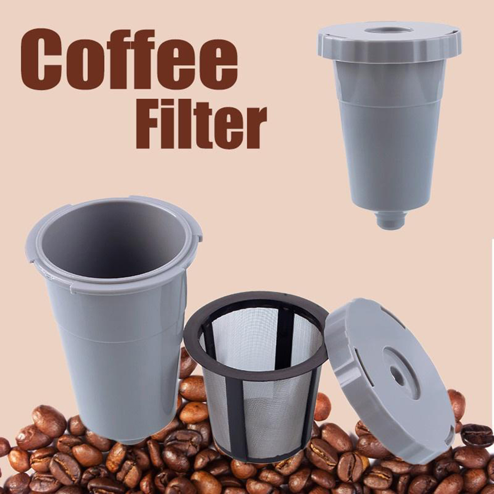 1Pcs Reusable K-Cup Coffee Filter Mesh Pods Filters Suit Refillable Dripper Tea Baskets Grey Color