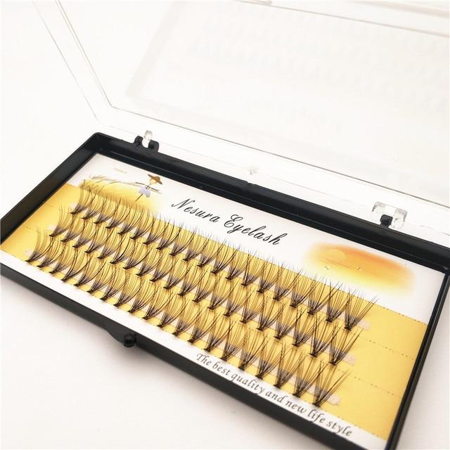 1 Box Big Capacity 60 Bundles 10D Eyelash Extensions 0.07mm Thickness Handmade 3D Individual Lashes Natural Style 2