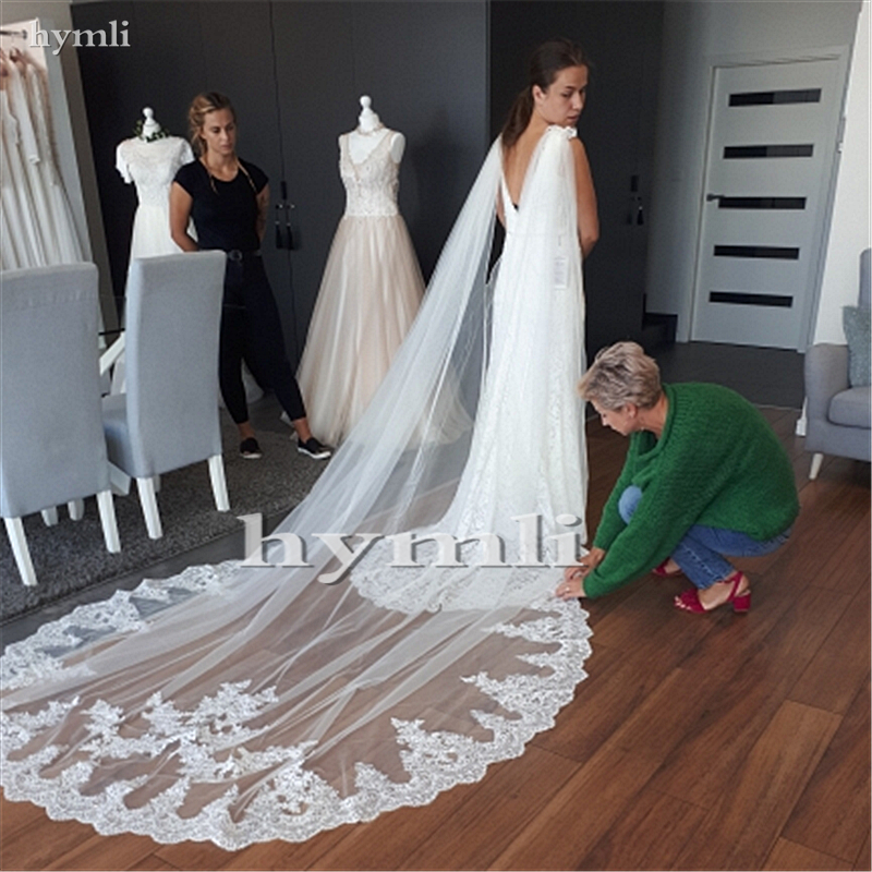 White / Ivory Wedding Cape Veil Cathedral Length