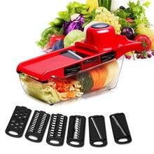 6pcs Steel Blades Mandoline Slicer Julienne Peeler Vegetable Cutter Potato Carrot Grater Kitchen Tools