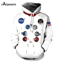 Man Women Hoodie NASA Appolo Sweatshirts White Casual Pullover Hip hop Pullover Funny Tracksuits Dropshoping 2019