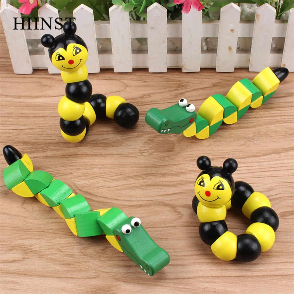 HIINST Spielzeug Mini Puzzle Holz Blöcke Schlange Magie Vielzahl Krokodil Twist Kinder Spiel Baby Entwicklung Wandelbare Lernen Spielzeug