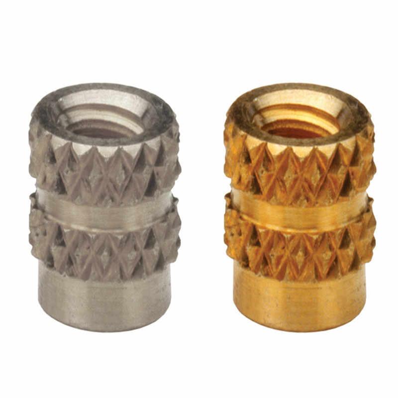 ITB-0428/0518 Brass Insert Nut knukles Nuts Insertos Knurling Copper Rivnut Threaded Rivet Ecrou Cejilla Inserti Tuerca Moeren